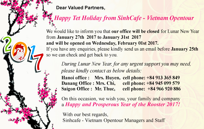 Office closed during Lunar New Year 2017 sinhcafe